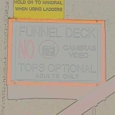 Funnel Deck Sign