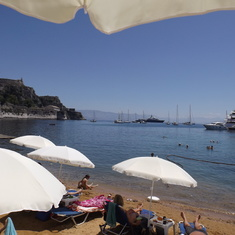 My little swimming beach in Corfu