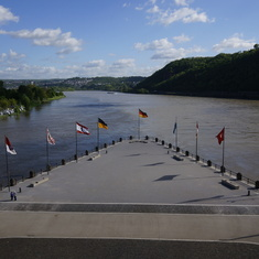 Confluence Moselle and Rhine Rivers, Koblenz