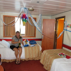 was a nice surprise to have the cabin decorated for my 60th birthday