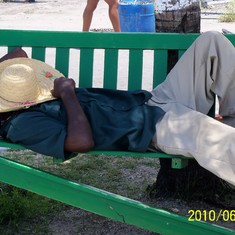 Nassau, Bahamas - This guy is on island time in Nassau.