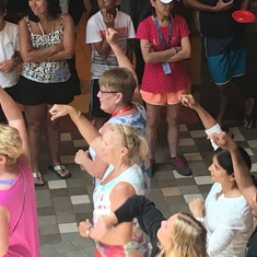 Flash Mob on the Promenade on Allure of the Seas