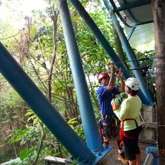 Puerto Limon, Costa Rica - Zip Line in Veragua Rainforest, Costa Rica