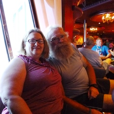 us relaxing on the promenade deck