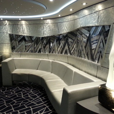 This style of decor runs throughout the ship.