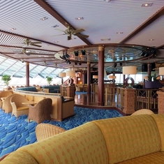 Beautiful lounge, deck 12.