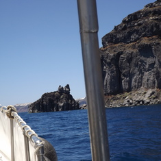 Got a little charter boat in Santorini, it was a blast!