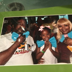 With our grand daughter at the cat in the hat breakfast