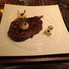 Fahrenheit 555 Steakhouse, cowboy steak