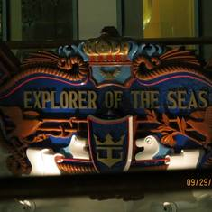 The Ship logo sign above the pool area