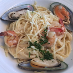 Seafood Linguine at the Galley Tour