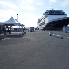 Victoria, British Columbia - HAL's Ship, ms Zaandam, at Victoria, B.C., May 2014