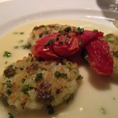 Da Vinci Dining Room Appetizer:  Risotto Cake