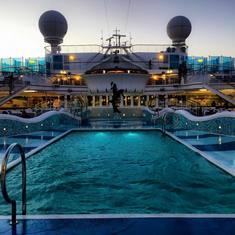 Twilight on deck