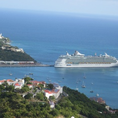 View of the ship from st Thomas