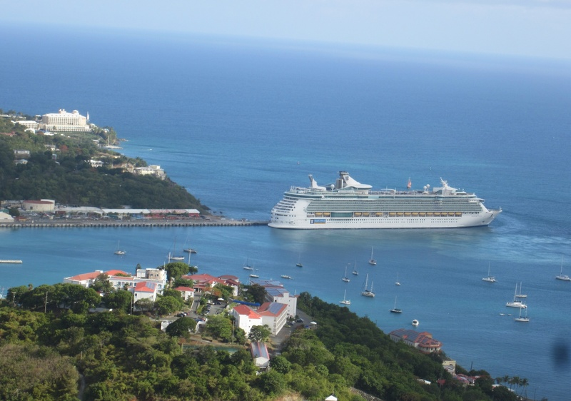 View of the ship from st Thomas  - Freedom of the Seas