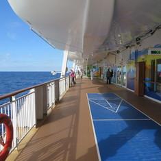 Around deck 7 of the Dawn