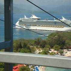 Freedom of the Seas from the Zip Line in Labadee, Haiti