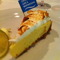 Key lime pie was fantastic - Manhattan Dining Room