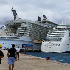 Oasis docked in Cozumel. The Big One!