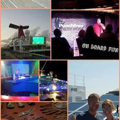 Some of the onboard activities/entertainment