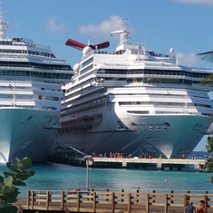 Busy day in Grand Turk.