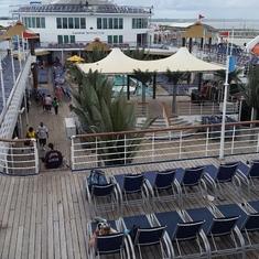 Lido upper deck