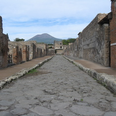 Naples, Italy - Streets of ancient Pompeii (Mount Vesuvius 79 AS)