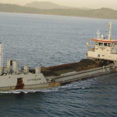 Tanker waiting to enter the locks