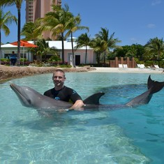 Nassau, Bahamas - Dolphin Swim at Atlantis