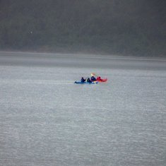 Kayaker at Mendenhall Glacier in Juneau