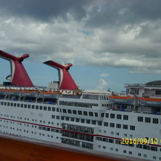 Neighboring ships in port