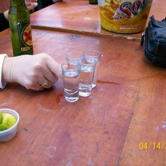 Can't be in Mexico without tequila!