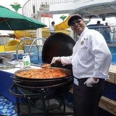 Sea day BBQ