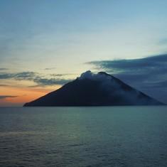 Iddu Valcano on Island of Stromboli just outside of the Strait of Messina