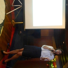 Samantha gives a talk