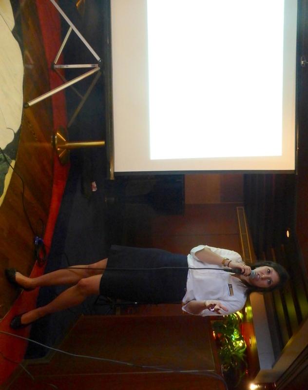 Samantha gives a talk - Amsterdam
