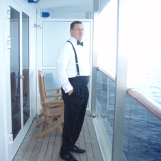 My hubby on our balcony on Formal Night