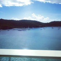 Balcony view in St. Thomas