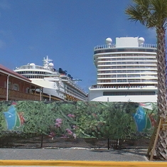 Disney Magic on Left & Norwegian Escape on Left @ BVI