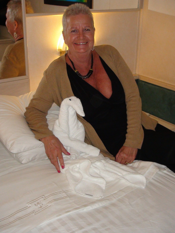 Rolling our own towels - Vision of the Seas