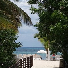 walk to the beach in Cozumel