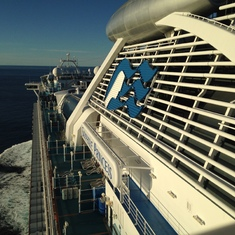 From the top deck.
