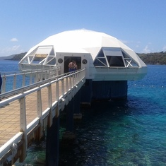 We did a helmet dive at this facility in St Thomas.
