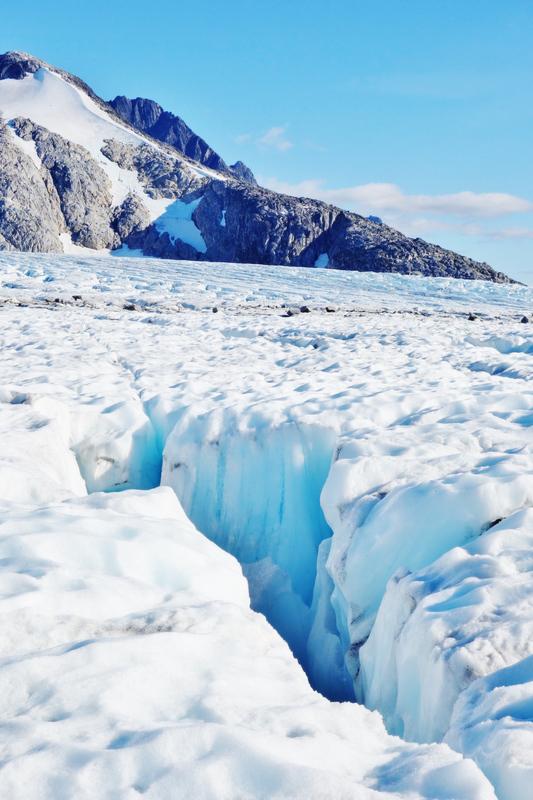 On Mendenhall Glacier in Juneau - Celebrity Solstice