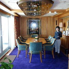 Dining Room in Pinnacle Suite, Cabin 7001