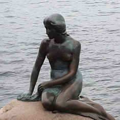 Copenhagen, Denmark - The Little Mermaid Statue in Copenhagen