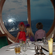 Looking out the window at dinner