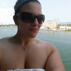 Ft. Lauderdale (Port Everglades), Florida - Selfie on the Balcony