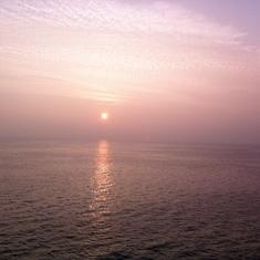 Sunset departing Suva, Fili